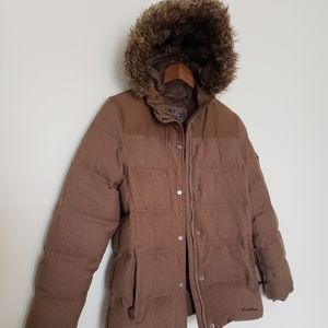 Eddie bauer size Medium winter jacket removal fur